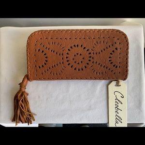 Cleobella Mexicana Soft Wallet in Tan NWT